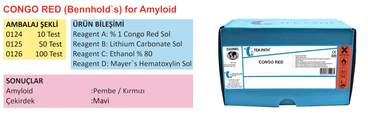 CONGO RED (Bennhold's) for Amyloid