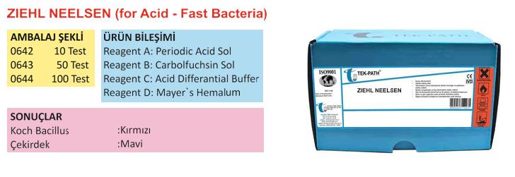 ZIEHL NEELSEN (for Acid-Fast Bacteria)